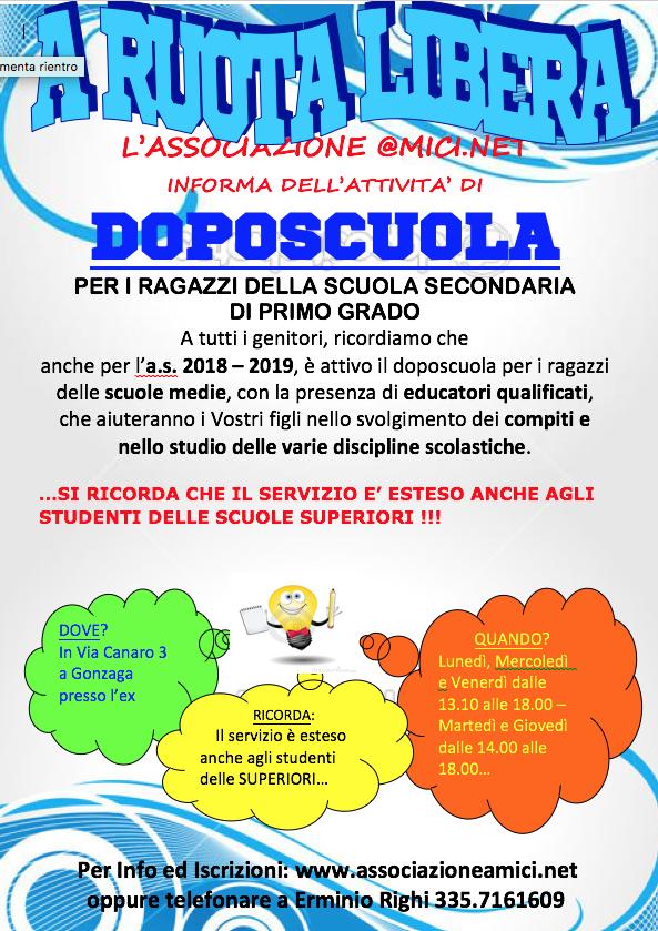 Doposcuola 2018-2019