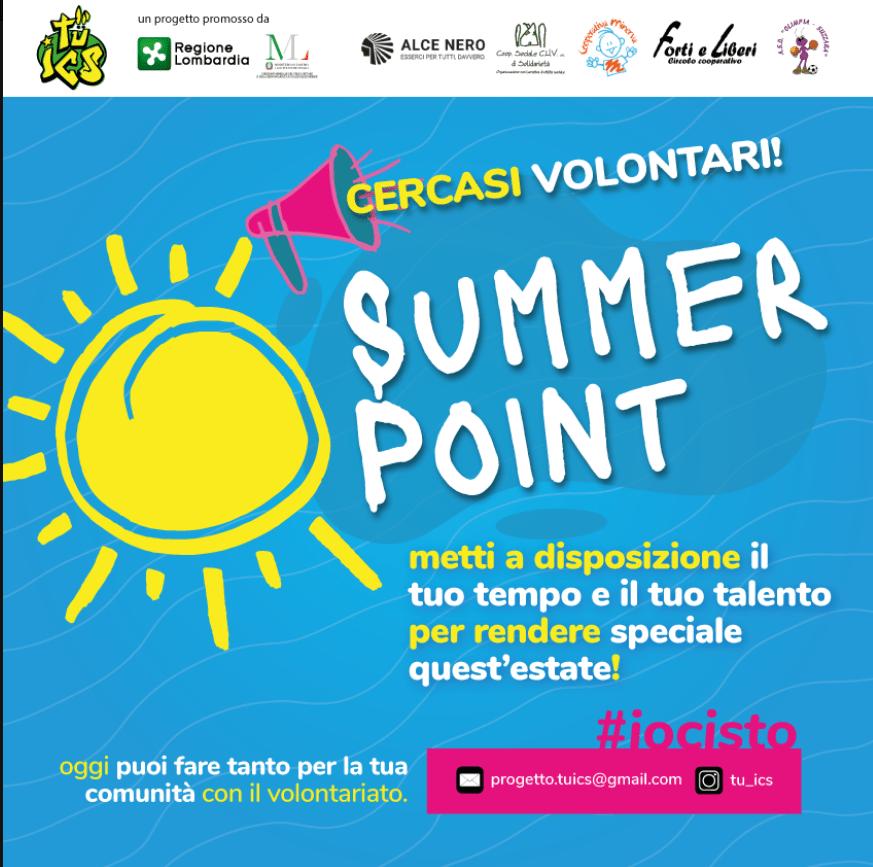 Summer Point: reclutamento dei volontari