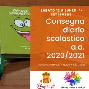 Consegna diario scolastico 2020-2021